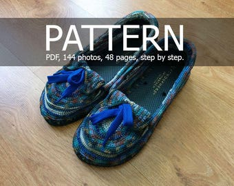 Crochet Moccasins on flipflops soles Pattern