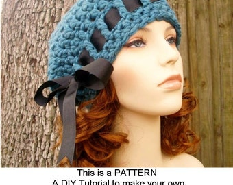 Instant Download Crochet Pattern - Womens Beret Pattern - Crochet Hat Pattern for Escargot Beret Hat - Womens Hat - Womens Accessories