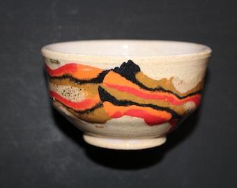 Ceramic tea  cup Mokume gane 37