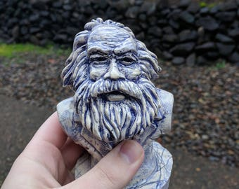 Karl Marx Mini Bust — [⁂] Original Stoneware Sculpture Statue