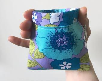 retro flower pinch purse  squeeze wallet flex pouch small pouch change wallet boho bohemian change purse small vegan coin pouch byMlous