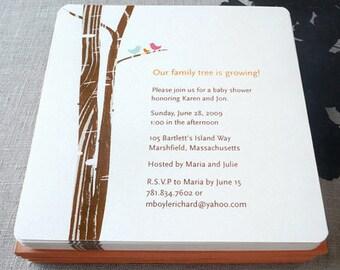 Family Tree invitation, baby shower, wedding shower, birthday party, DIGITAL FILE