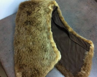 Vintage Fur Collar - Beaver Fur - Coat Accessory - Gift for Her