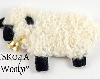 "TSK04AP - ""Wooly"" Sheep Ornament/Brooch Embroidery Pattern"