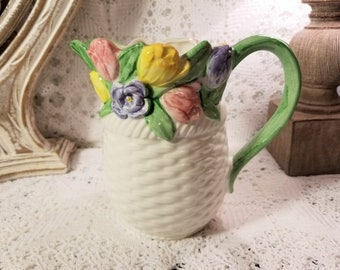 Mary Ann Baker spring flowers pitcher