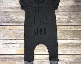 Hello Little Bear Harem Romper