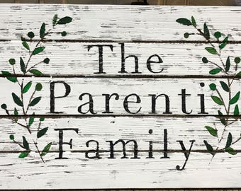 Custom Painted Family Name Sign