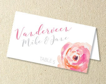 Printable Floral Wedding Place Cards