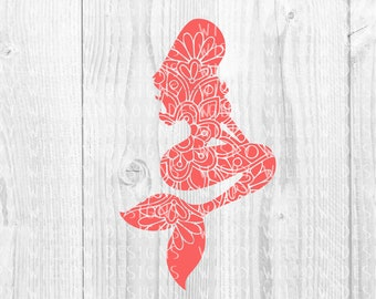 Mermaid Mandala SVG, Mermaid DXF, Mermaid, Digital Download File, Boho, Nautical, Mermaid Decal, Cricut, Silhouette, Cut File, Vinyl Decal