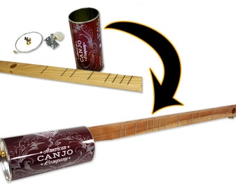 One-string Canjo Kit by The American Canjo Company - a fun one-string instrument you build yourself! (Product # 36-010-01)