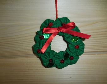 Mini Yuletide Wreath Ornament