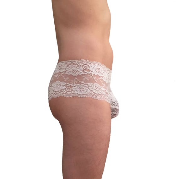 Very sheer lace panties for men, Manties, knickers, see through
