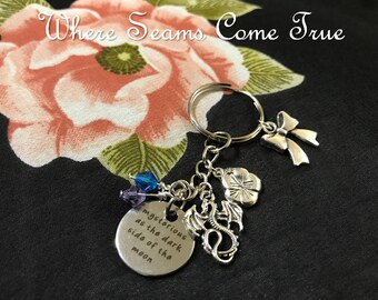 Mulan Quote Keychain (Mysterious as the darkside of the moon)