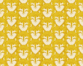 Timber and Leaf by Sarah Watts for Blend One Yard of Fox Portrait in Gold