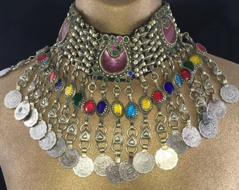 Tribal Kuchi Necklace - Tribal Bellydance, Unique, Costume Jewelry, Boho