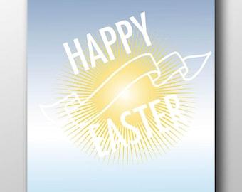 Easter art print,happy Easter,Easter typography,Easter art,Easter decoration,Spiritual Easter,