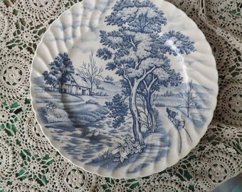 Blue River , Nasco Japan Luncheon Plate