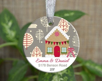 Personalized Christmas Ornament, Our new home ornament, Custom Christmas Ornament, Housewarming gift, Wedding gift, Christmas gift. o053