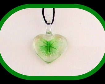Pendant-Focal-Murano glass pendant- Murano heart pendant-Murano pendant-green heart pendant-jewelry-beading-supply-DIY-Celestial Luxuries