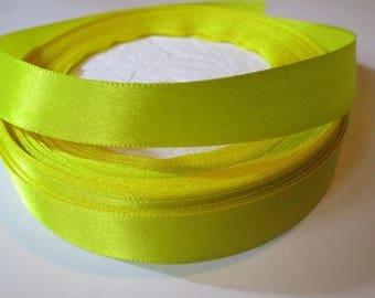 10 m yellow 16mm satin ribbon