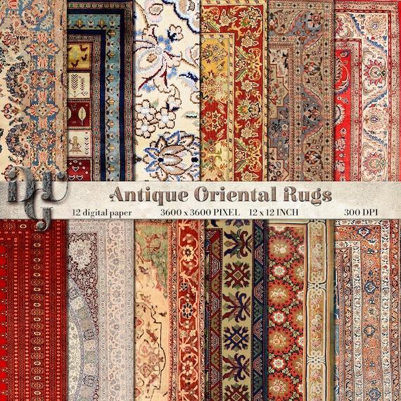 Antique Oriental Rugs Uk: ORIENTAL RUGS Digital Paper Antique Persian Carpet Digital