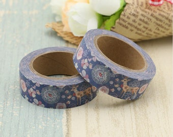 1 Washi tape with pattern - 1 roll of deco tape