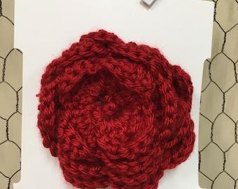 Large Crochet Flower Barrette