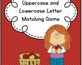 Uppercase to Lowercase Letter Matching File Folder Game