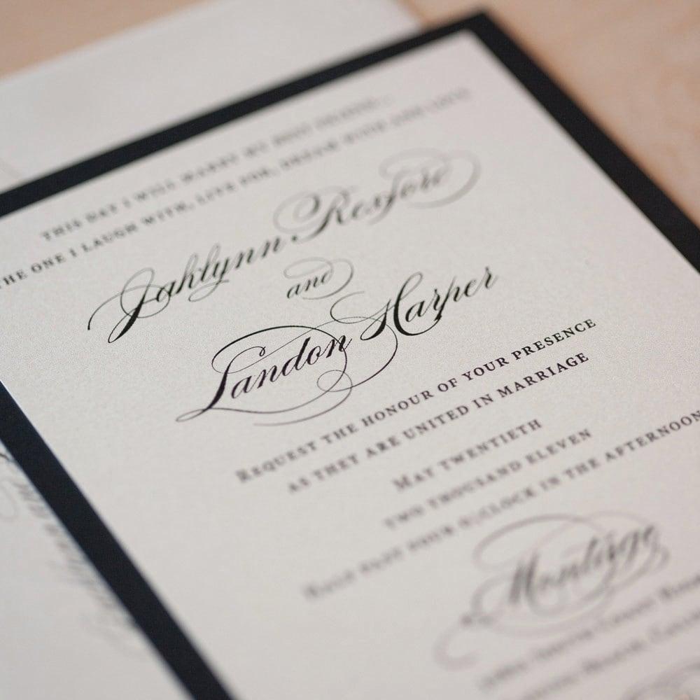 Elegant Wedding Invitations: Elegant Wedding Invitation Classic Invitation Romantic