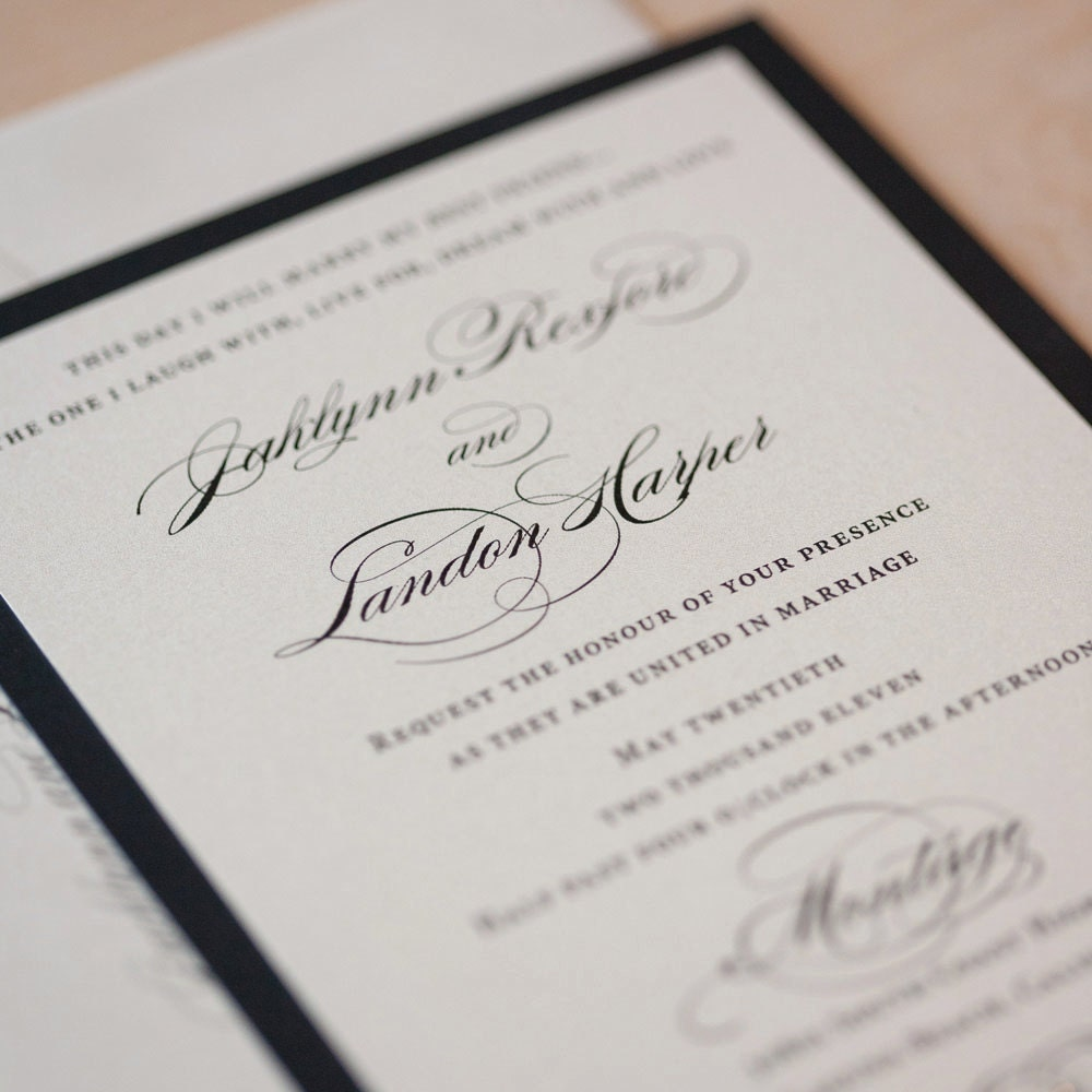 Elegant Wedding Invitation Templates: Elegant Wedding Invitation Classic Invitation Romantic