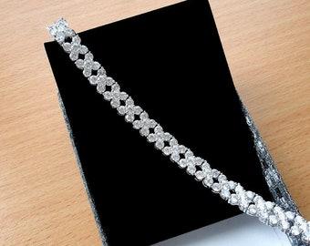 Bridal Bracelet Wedding Jewelry Mother of the Bride Gift Wedding Bracelet Swarovski Crystal Bracelet for Women Bridal Jewelry Cubic Zirconia
