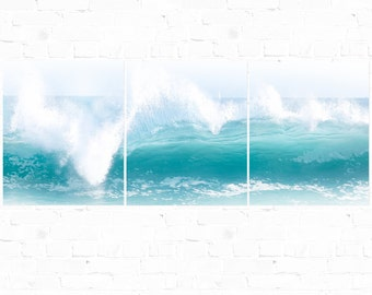 Wave Photography, Triptych, Crystal Cove, Ocean Photography, Pacific, California Pacific
