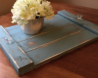 Rustic Shabby Chic Wood serving tray