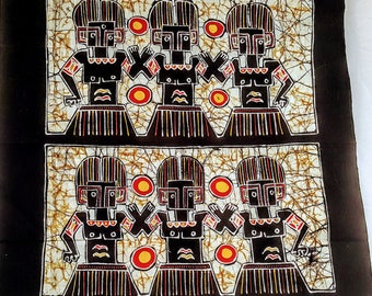 Indonesian Batik Panel  Balinesion Art   vintage collector's item