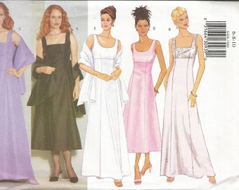 Butterick 6406 Misses Evening Dress Pattern SZ 6-10