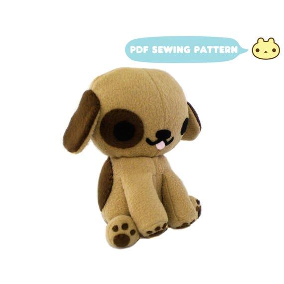 Plush Dog Sewing Pattern Puppy Softie Sewing Pattern Dog