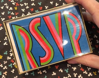 sale - 16 RSVP Mod notes and envelopes