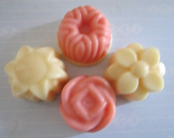 Scented Wax Melts - Flowers Shape Scented Soy Melts - Wax Warmer Tarts- 6 Pack (4.4oz) Wax Melts