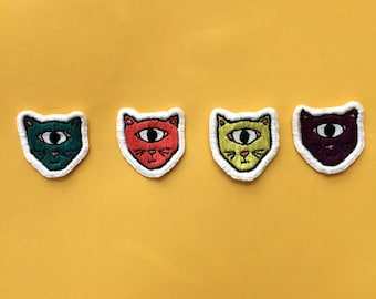 Cyclops Cats hand embroidered patch
