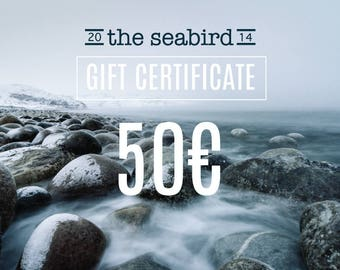 Gift certificate, Christmas Gift card, instant download gift card, gift for him, last minute Anniversary present for her