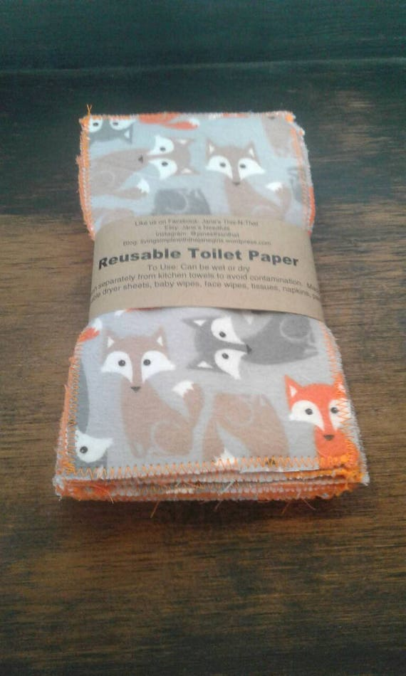 Fox reusable toilet paper baby wipes cloth wipes family