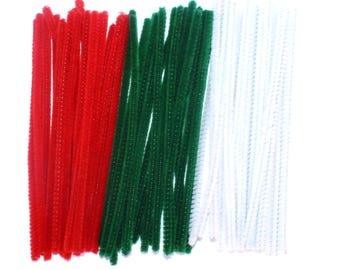Festive Christmas Pipecleaners Pack of 60