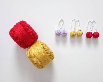 Boucles d'oreilles perles au crochet minimaliste pour jeune fille ou femme, idée cadeau  anniversaire copine, bijoux au crochet pour l'été