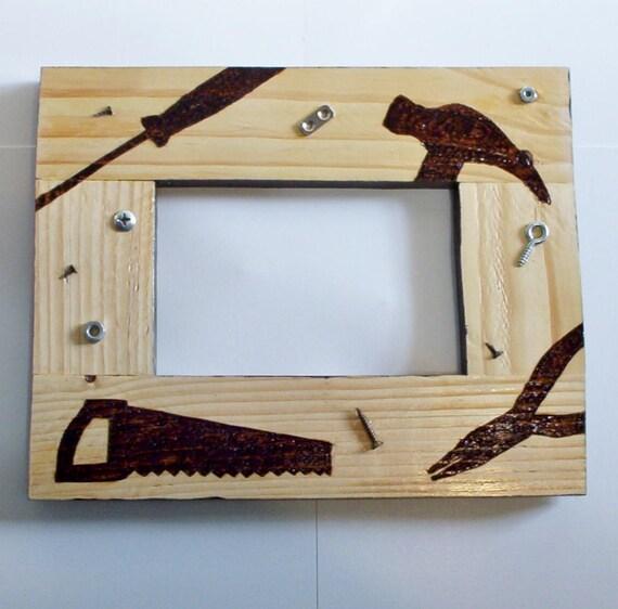 foto cuadro marco herramientas pirograbado madera quemada plataforma ...