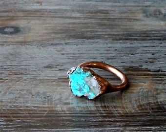Turquoise Ring Gemstone Ring Birthstone Ring Cocktail Ring December Jewelry Robins Egg Blue