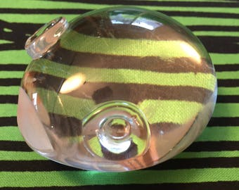 Spode Vintage Crystal Odd Frog Signed Paperweight Nasikabatrachus Sahyadrensis Amphibian Calms Anxiety