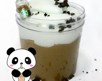 MOCHA FRAPPUCCINO Scented Butter Slime with Starbucks Frappuccino Charm