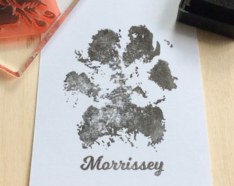 Dog paw stamp, paw print stamp, custom rubber stamp, gift for dog lover, paw print, dog gift, dog paw rubber  stamp, dog stamp,  paw stamp