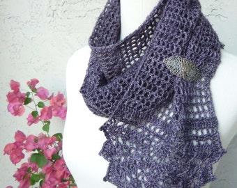 Blossomy Scarf Crochet - PATTERN / PDF