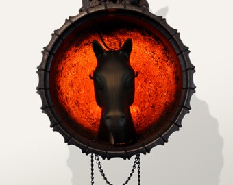 Wall lamp in farmhouse style
